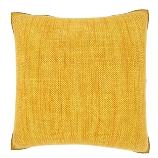 Yellow Woven Cloth 18-inch Velour Throw Pillow