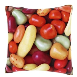 Jelly Sweets Candy 18-inch Velour Throw Pillow