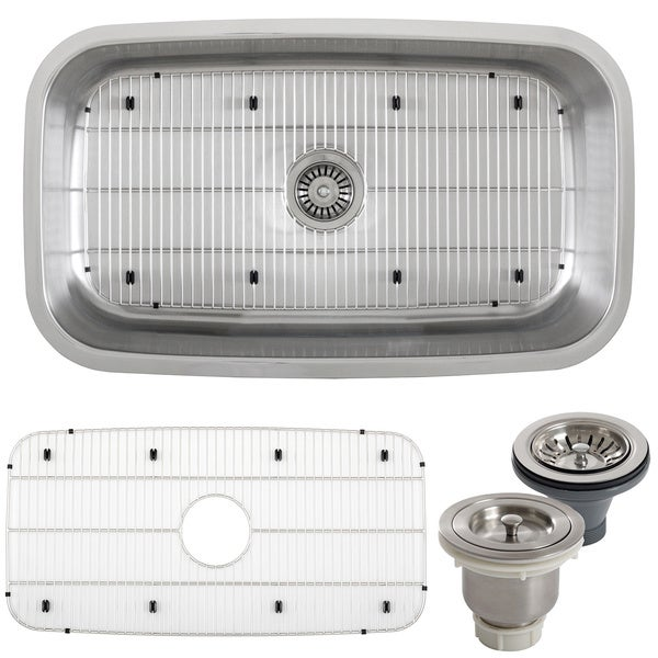 Stainless Steel Sink 16 Gauge : ... 32-inch Stainless Steel 16-gauge Undermount Single Bowl Kitchen Sink