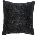Celebration Swirl Black Beaded Decorative Pillows (Set of 2)