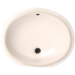 Phoenix Almond Vitreous Porcelain 13-inch Undermount Bathroom Sink