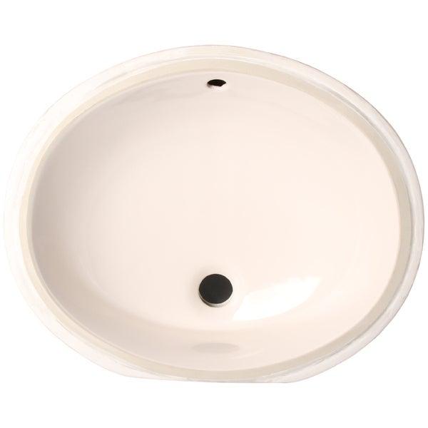 Porcelain Undermount Sink : Phoenix Almond Vitreous Porcelain 13-inch Undermount Bathroom Sink ...