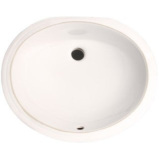 Phoenix White Vitreous Porcelain 17-inch Undermount Bathroom Sink