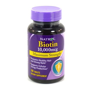 Natrol Biotin 10,000mcg 100-Count Supplements (Pack of 2)