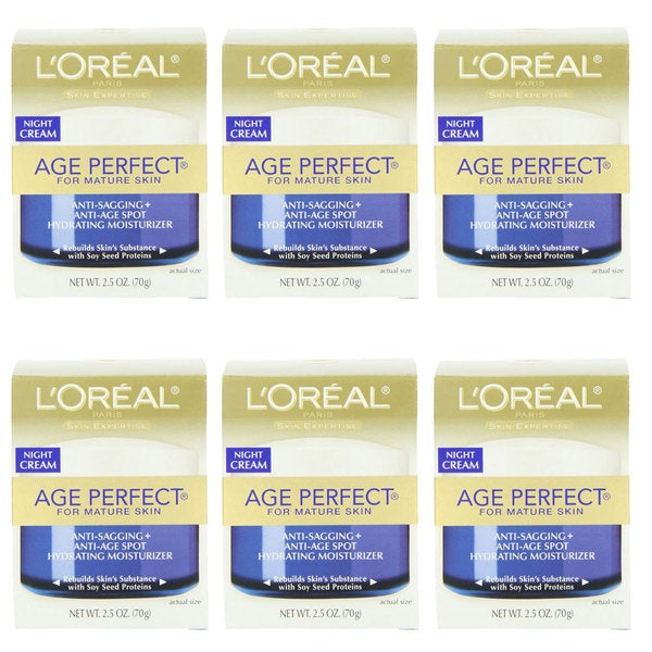 L'Oreal Age Perfect 2.5-ounce Night Cream (Pack of 6)