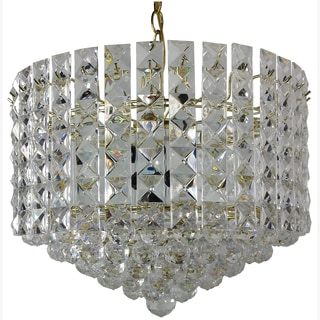Prismatic Gem 8-light Polished Brass Chandelier