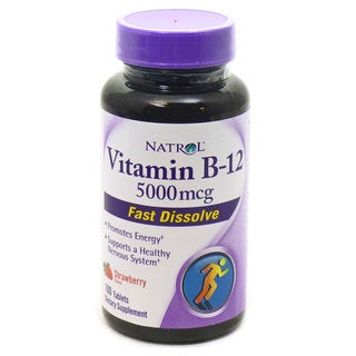 Natrol Vitamin B-12 5000mcg 100-count Fast Dissolve Supplements (Pack of 2)