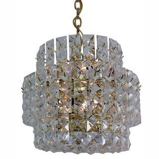 Prismatic Gem 8-light 3-tier Polished Brass Chandelier