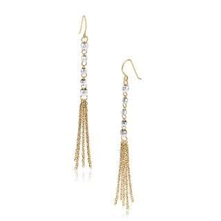 Gioelli 14k Two-tone Gold Strand Dangle Earrings