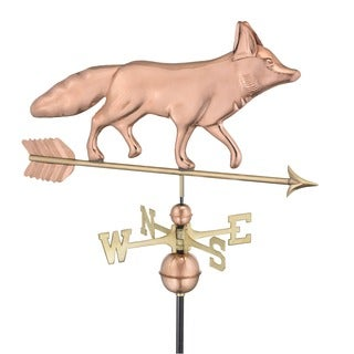 Good Directions Polished Copper Fox Weathervane