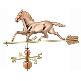 Good Directions Large Horse Estate Polished Copper Weathervane