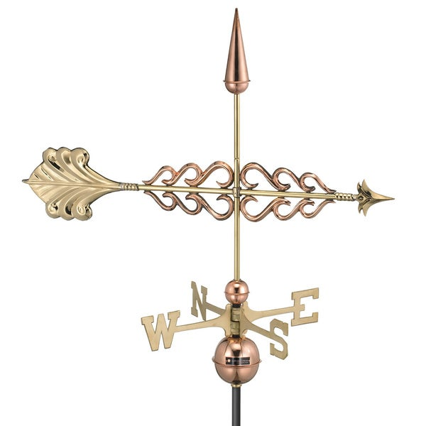 Good Directions Polished Copper Smithsonian Arrow Weathervane