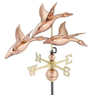 Good Directions Geese in Flight Polished Copper 28-inch Weathervane