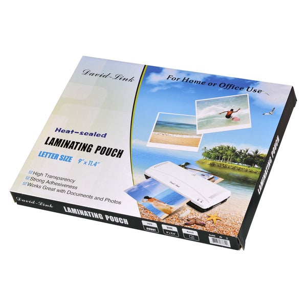 David-Link Letter Size Laminating Pouches (Pack of 100)