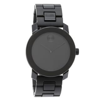 Movado Bold Large Black Dial 3600047 Polymer Bracelet Watch