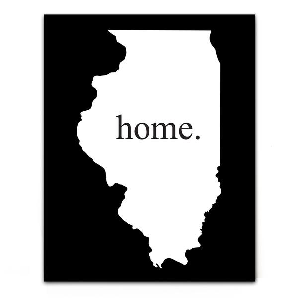 Home State Black/ White Aluminum Bar Sign