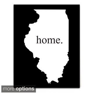 Home State Black/ White Aluminum Bar Sign