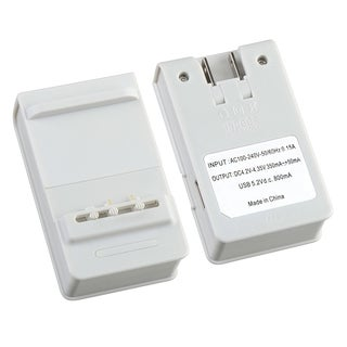 INSTEN White Battery Wall Desktop Charger with USB Output