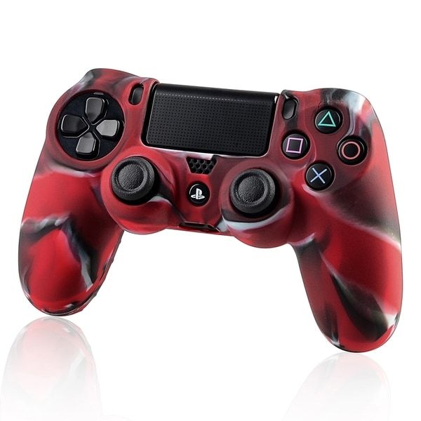 INSTEN Camouflage Navy Red Skin Case Cover for Sony PlayStation 4 Controller