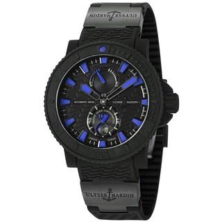 Ulysse Nardin Men's 263-92-3C/923 'Black Sea' Black/Blue Dial Rubber Strap Watch