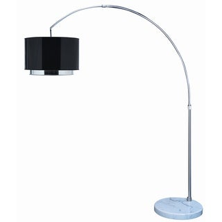 Paparazzi Arc 1-light Brushed Nickel Floor Lamp