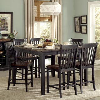 Zachary Counter Height Sand Through Black/Brown 7-piece Butterfly-Leaf Dining set