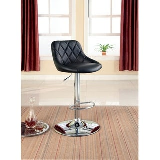 Furniture of America Panzia Black Diamond-tufted Height-adjustable Bar Stool