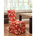 Floral Skirted Parson Dining Chair