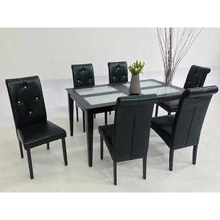 Warehouse of Tiffany Dita Black 7-piece Dining Set
