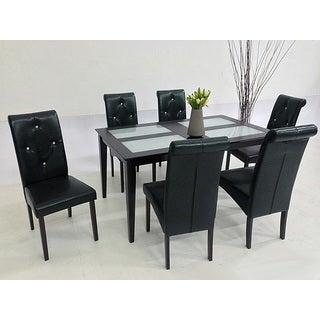 Warehouse of Tiffany Dita Black 7-piece Dining Set