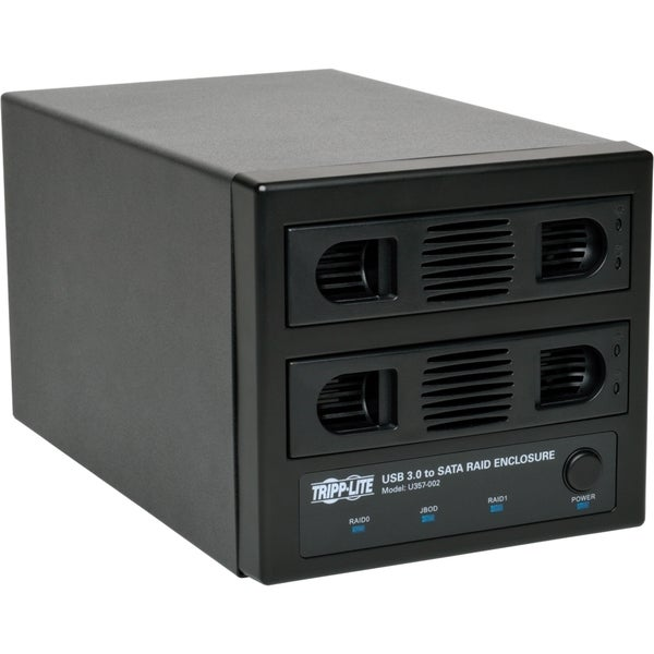 Tripp Lite USB 3.0 SuperSpeed 2 Bay SATA Hard Drive RAID Enclosure w
