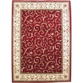 Amalfi Scroll Red Oriental Area Rug (3'3 x 4'11)