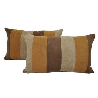 Sherry Kline Dolce Striped Suede Boudoir Pillow (Set of 2)