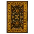Gold/ Black Traditional Oriental Area Rug (5' x 8')