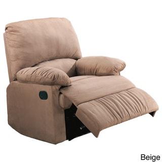 Casual Microfiber Recliner Chair