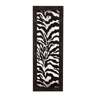 Upton Home Sahara Zebra Print Open Wall Mount Jewelry Display/ Organizer Board