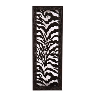 Upton Home Sahara Zebra Print Open Wall Mount Jewelry Display/ Organizer Board