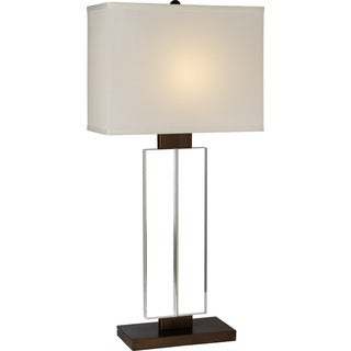 Shine 1-light Weathered Bronze Table Lamp