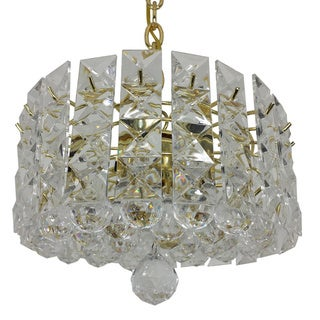 Prismatic Gem Polished Brass 1-light Pendant