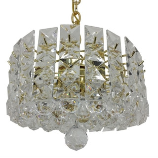 Prismatic Gem Polished Brass 3-light Pendant