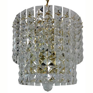 Prismatic Gem Polished Brass 5-light 2-tier Chandelier