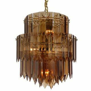Contemporary Polished Brass 9-light Chandelier