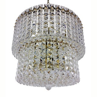 Prismatic Gem Polished Brass 9-light 2-tier Chandelier