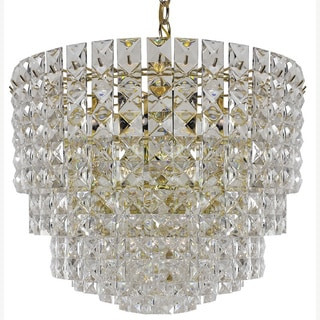 Prismatic Gem Polished Brass 11-light multi-tier Chandelier