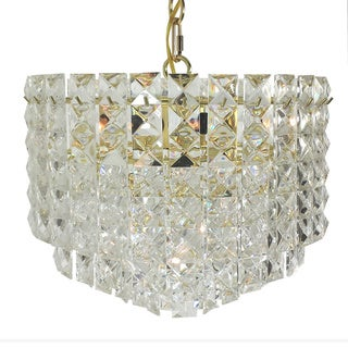 Prismatic Gem Polished Brass 7-light Multi-tier Chandelier