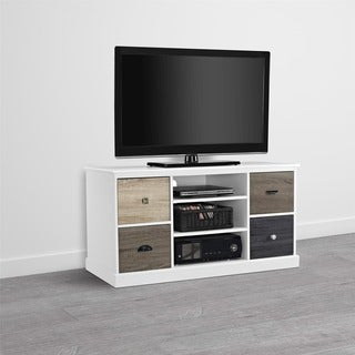 Mercer Storage TV Console with Multicolored Door Fronts