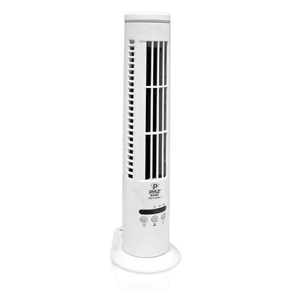 PyleHome White 3-speed Ultra-thin USB Desktop Tower Fan