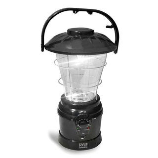 Pyle Multi-function Black AM/FM Radio Hand Crank Torch Lantern