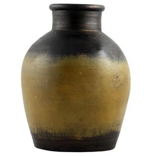 Rustic Hand-thrown Decorative Terracotta Pot (India)