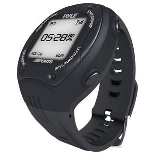Pyle Sports Digital LED ANT+ E-compass GPS Navigation Black Sports Training Watch